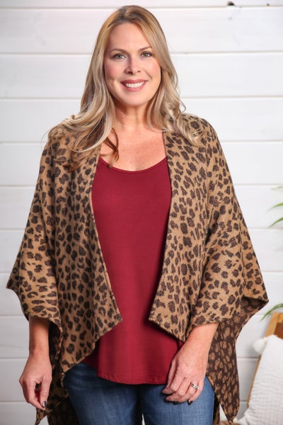 Cape Love Leopard Cape *Final Sale*