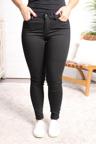 Black to Basics Mid Rise Skinny Jeans