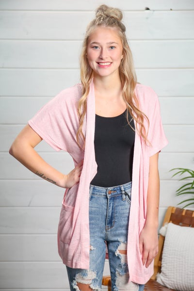 Nothing Going On Cardigan Pink