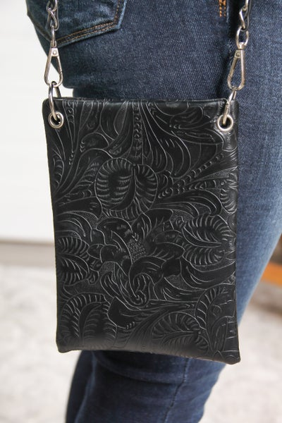 The Chic Bag Black Tooled *Final Sale*