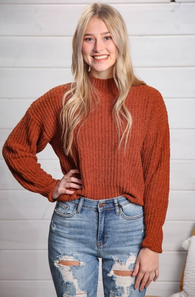 As Long As You Love Me Sweater Rust *Final Sale*