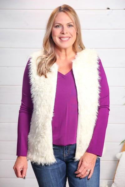 Stay Beautiful Fur Vest
