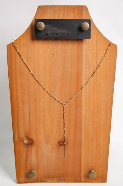 Chain Reaction Y Necklace Gold