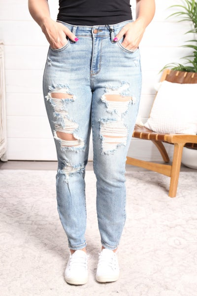 Boy, Bye! High Rise Boyfriend Fit Jeans