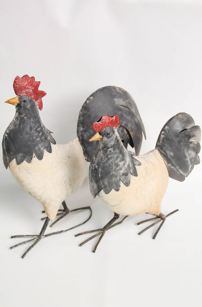 In the Hen House Metal Decor Set