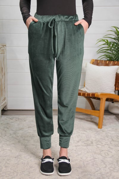 Loving Every Moment Corduroy Joggers Green *Final Sale*