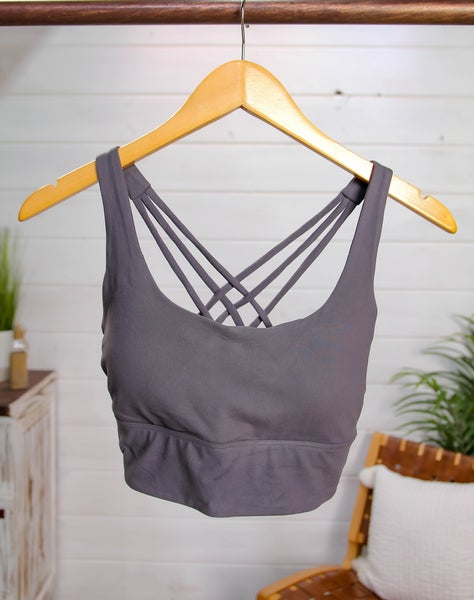 Call This Love Bralette Charcoal *Final Sale*