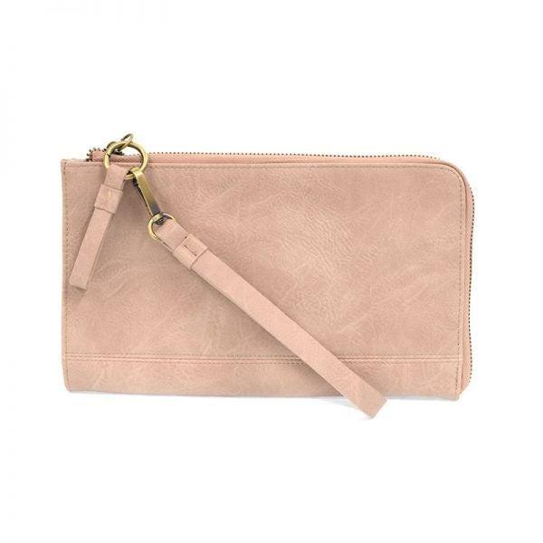 So Chic Convertible Wristlet & Wallet Pink Whisper
