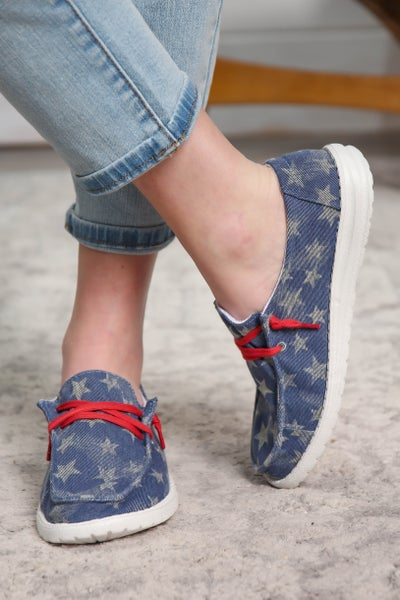 Hey Girl Shoes Navy Star