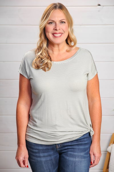 Casual Comfort Top Sage