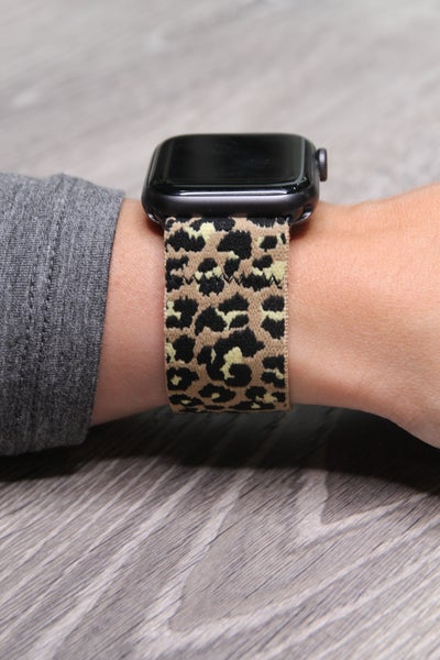 Apple Watch Band Stretch Leopard
