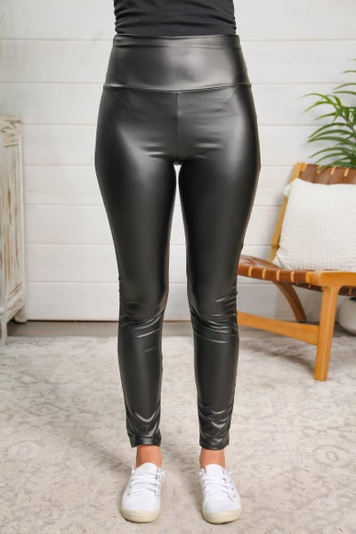 Faux Leather Black Leggings