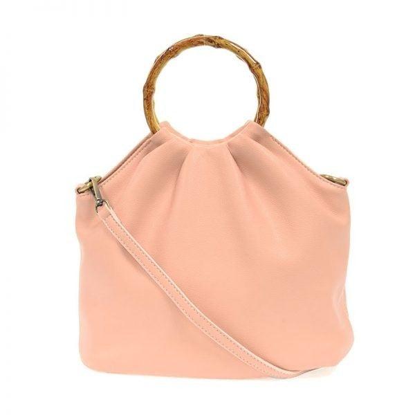 Bamboo Handle Pouf Bag Petal