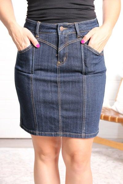 Simply Sassy Denim Skirt *Final Sale*