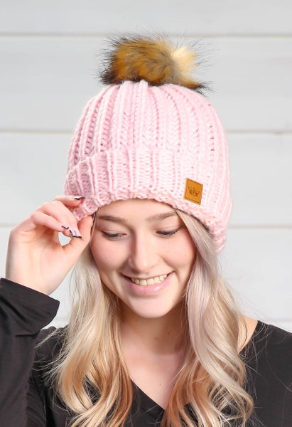 Falling For You Beanie Pink
