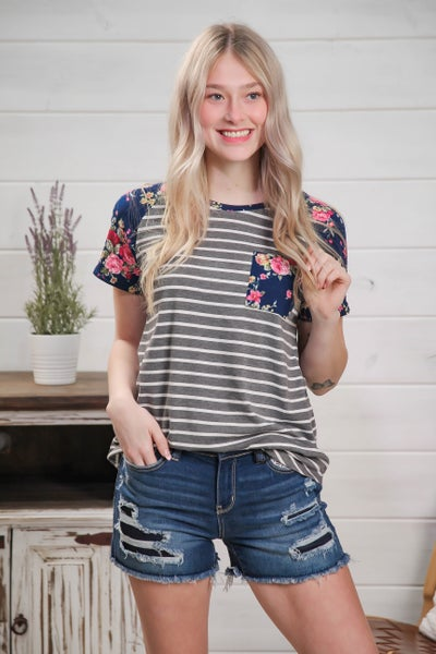 Mix & Shout Top Navy