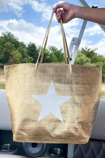 Gold Star Tote Bag *Final Sale*