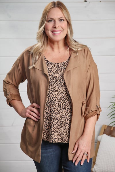 Lead the Way Jacket-Taupe *Final Sale*