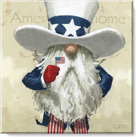 Uncle Sam Gnome Wall Art