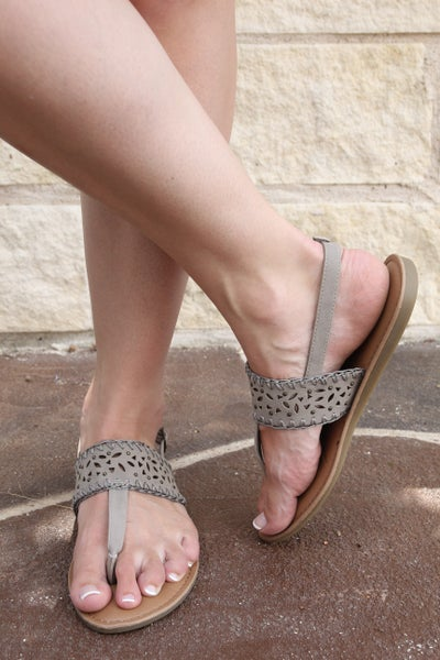 Spring In My Step Sandals Dark Taupe *Final Sale*