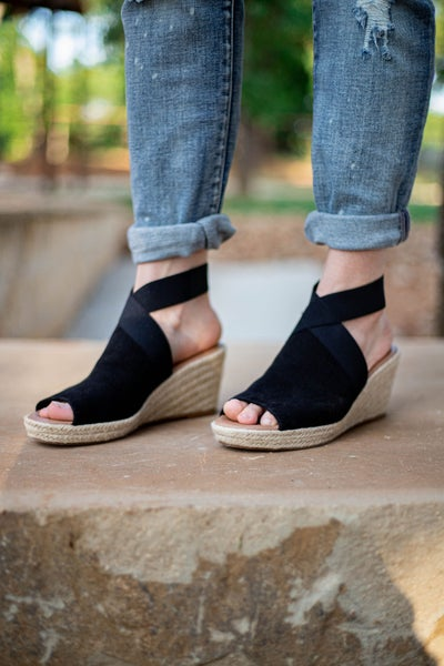 Sunny Day Wedges Black