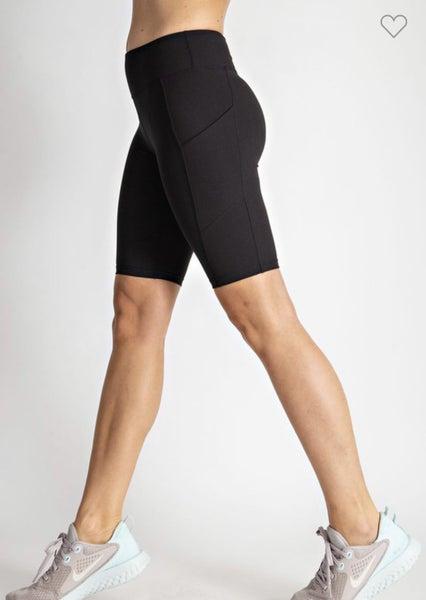 Call Me Sassy Biker Shorts w/ Side Pocket Black