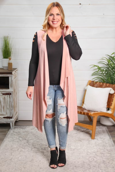 Just Meant To Be Cardigan Rose