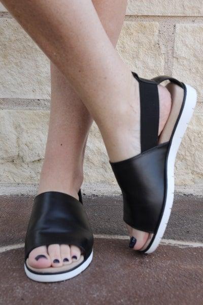 Keep Me in Suspense Sporty Sandals Black *Final Sale*