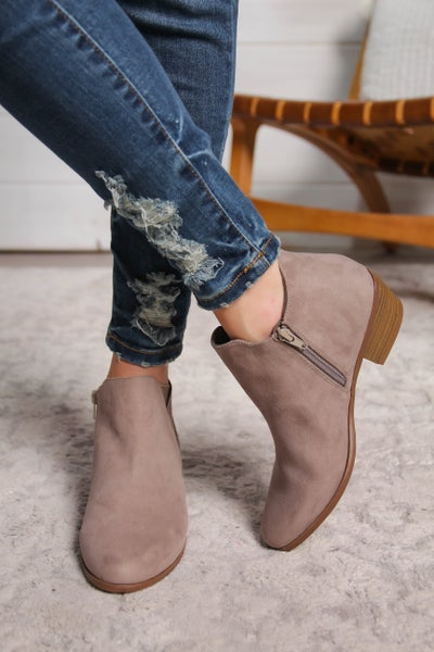 Made For Walking Bootie Grey *Final Sale*