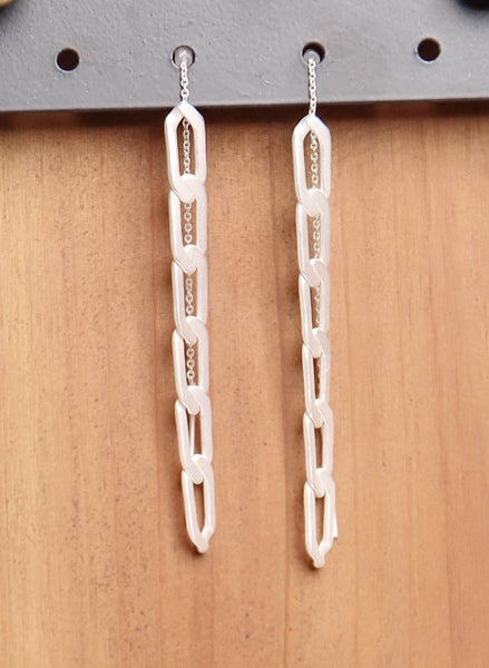 Chain Earrings Silver