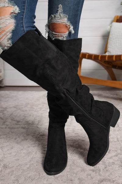 Tall Story Knee High Boots Black *Final Sale*