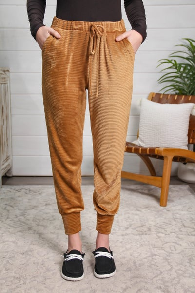 Loving Every Moment Corduroy Joggers Camel *Final Sale*