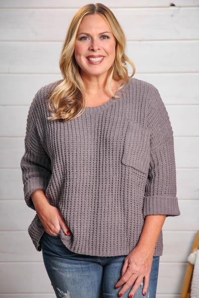Hopeful Heart Sweater Charcoal *Final Sale*