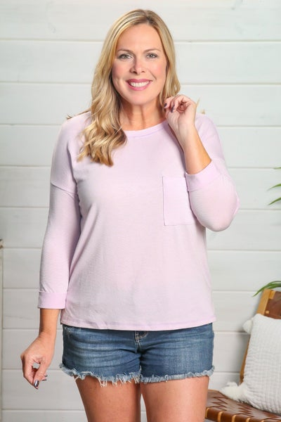 Long Sleeve Lovely Top Lilac *Final Sale*