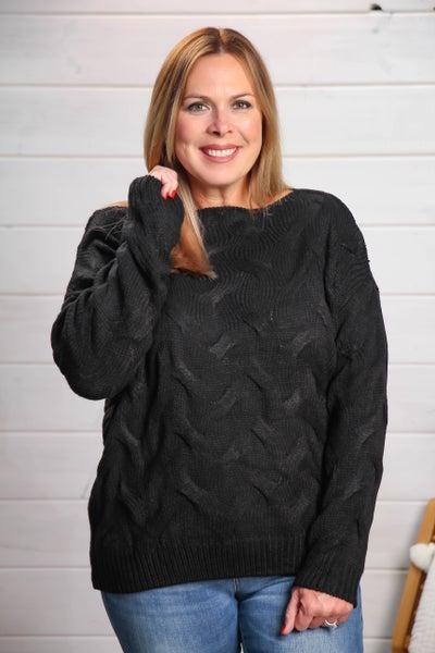 Let's Get Comfy Sweater Black *Final Sale*