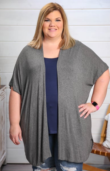 Love to Layer Cardigan Charcoal *Final Sale*