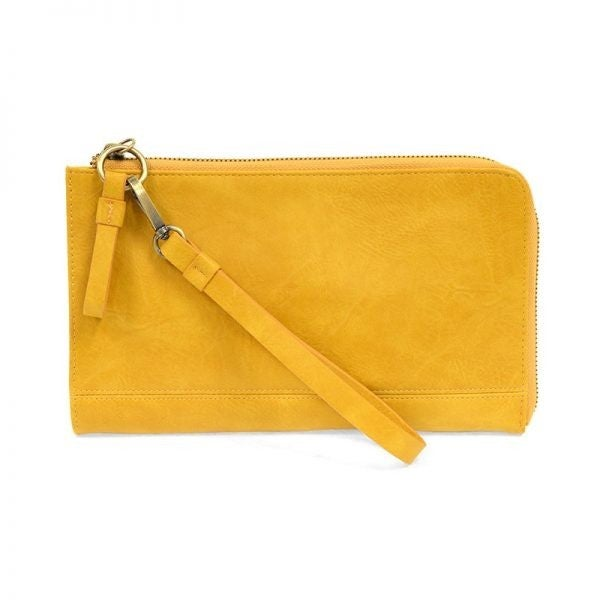 So Chic Convertible Wristlet & Wallet Mustard
