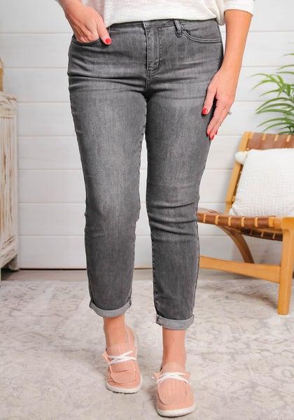 Long Overdue Mid Rise Boyfriend Fit Jeans