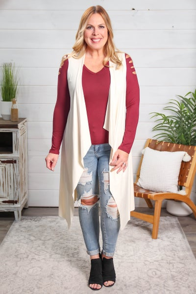 Just Meant To Be Cardigan Ivory