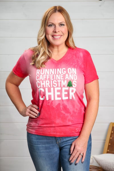 Caffeine & Christmas Cheer Tee *Final Sale*