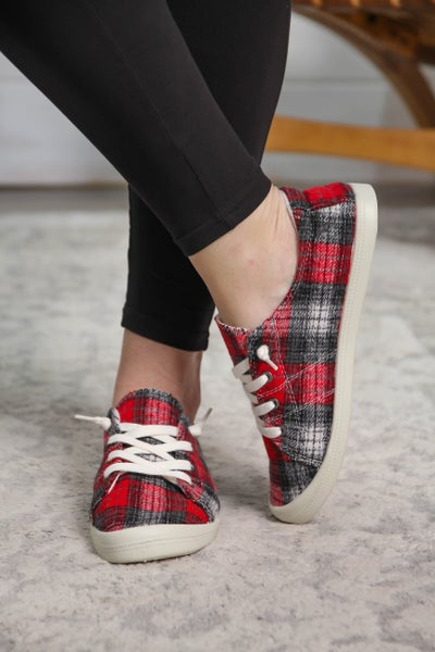 Perfectly Plaid Sneakers *Final Sale*