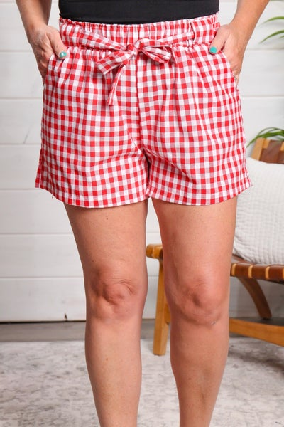 Picnic Date Shorts Red *Final Sale*