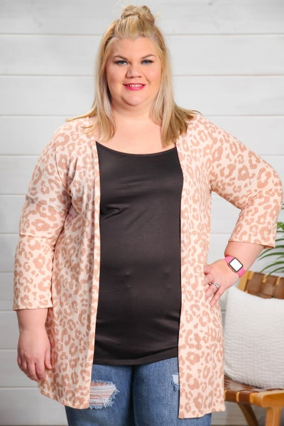 Pink Leopard Perfection Cardigan *Final Sale*