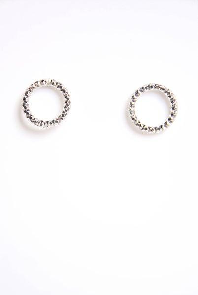 Neverending Time Stud Earrings Silver