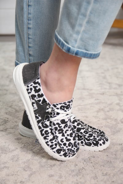Hey Girl Shoes Leopard Star