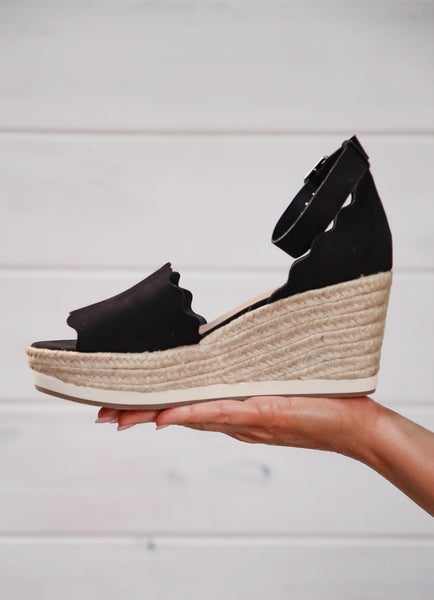 We Owned The Night Wedges Black