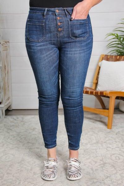 Pocket Full of  Sunshine High Rise Skinny Fit Jeans
