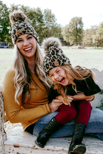 Stay Wild Leopard Beanie Mommy & Me