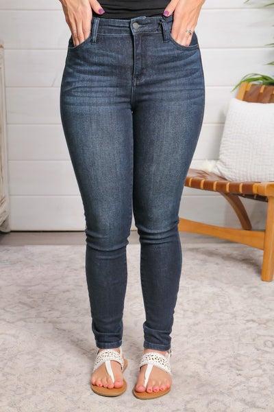 Dark Of The Night High Waist Skinny Jeans