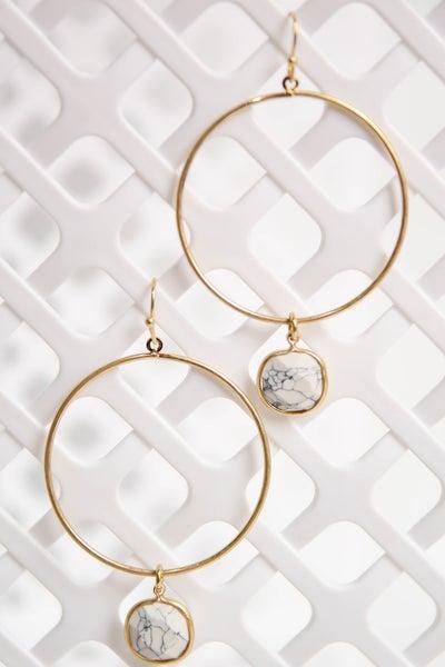 Seek The Best Earrings White/Gold